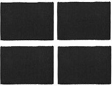 Linum Lind Tischset 4er Set 35x46cm, schwarz