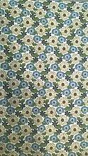 Linum Tischdecke BOUQUET Blumenmuster 100x100cm, blau-grün, bunt (blau-grün)