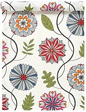 Linum Tischläufer Läufer Kaleido MOC bunt florales Design, 45*150 cm