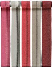 Linum Tischläufer Läufer Tischmitte Rakel, Farbe D37, Blockstreifen, gestreift, glatt gewebt 45*150 cm, 100% Baumwolle, in rot, bordeaux, grau, schwarz,