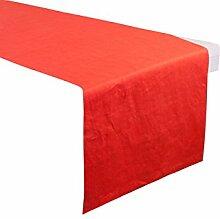 Linum Tischläufer rot Größe 45x140 cm