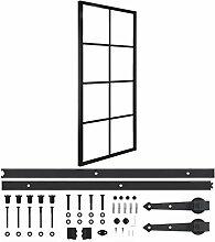 LINWXONGQP Farbe: Schwarz Türen Schiebetür