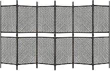LINWXONGQP Material: Poly Rattan, Stahl Raumteiler