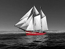 LINXIJH 5D Diamant Malerei Kits Rotes Segelboot