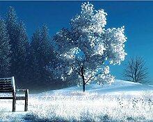 LINXIJH 5D Diamant Malerei Weiße Bäume
