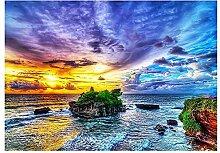 LINXIJH 5D Kreuzstich Farbe Himmel