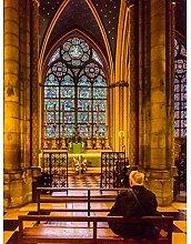 LINXIJH DIY 5D Diamant Malerei Kits Kirche