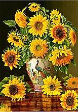 LINXIJH DIY 5D Diamant Malerei Kits Sonnenblume
