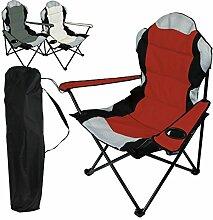 Linxor ® Camping faltstuhl klappstuhl mit getränkehaltern + Transporttasche – 3 Farben – EG-Norm