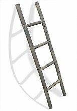 LioLiving®, Handtuchhalter / Dekoleiter aus Bambus (grau / grey washed) - (150 x 41 cm) (#400125)