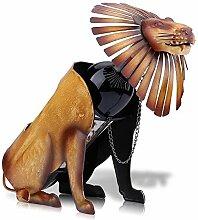 Lion Wein-Halter Modern Metall Weinregal Skulptur