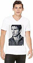 Lionel Messi Mens V-neck T-shirt Medium