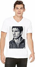 Lionel Messi Mens V-neck T-shirt Small