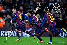 Lionel Messi Neymar rafinha X3unterzeichnet Foto
