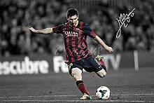 Lionel Messi signiertes Foto
