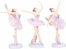 LIOOBO Packung mit 3 Ballerina Statue Desktop