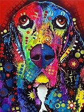 liphisfun DIY Full Quadratisch Dill Diamant Gemälde Huskies Kreuzstich Haushalt Dekoration Hunde Diamant Mosaik Stickerei Gemälde (30x 40cm), 05, 30x40cm