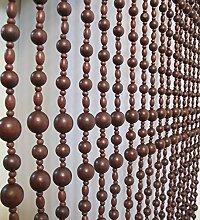 LIQICAI Holz Perlenvorhang Raumteiler für Party