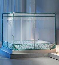 LIQICAI Moskitonetz 100% Polyester Stabiler Stand aus Eisen Insektenschutz, Bequeme 3 Tür 2 Farbe 6 Größe optional ( Farbe : Grün , größe : 1.80x2.00x1.55m )