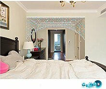 LIQICAI Türvorhang Kristall Perlen Vorhang für