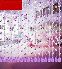 LIQICAI Türvorhang Perlen-Vorhang Kristall