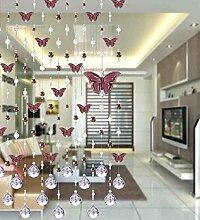 LIQICAI Türvorhang Perlen-Vorhang Schmetterling