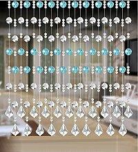 LIQICAI Türvorhang Perlenvorhang DIY Kristall