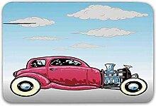 LIS HOME Autos rutschfeste Fußmatte, Old Classic