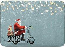 LIS HOME Bad Matte Bart rot Lieferung Santa Claus