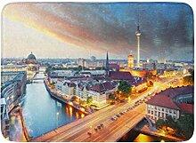 LIS HOME Badematte Alexander Blue Tower Berlin