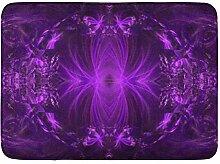 LIS HOME Badematte Violet Amethyst Lila Bänder