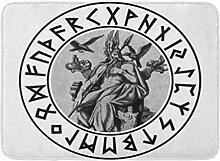 LIS HOME Badteppich Merchbooth Odin Shield Asatru