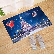 LIS HOME Frohe Weihnachten Schloss Fußmatte,