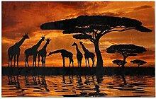 LIS HOME Giraffe Silhouette mit Baum über