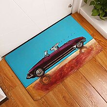 LIS HOME Indoor Cartoon Auto Welpen Fußmatte