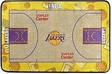 LIS HOME Lakers Basketballplatz Badematte