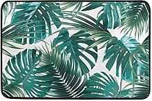 LIS HOME Palm Leaf und Monstera Badematte