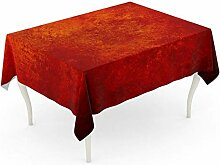 LIS HOME Rechteck Tischdecke Abstrakt Orange Rot