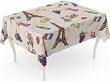 LIS HOME Rechteck-Tischdecken-Flaggen-Symbole von