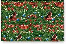 LIS HOME Weihnachten Willkommen Fußmatte Green