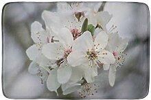 LIS HOME Weiße Kirschblüten saugfähigen