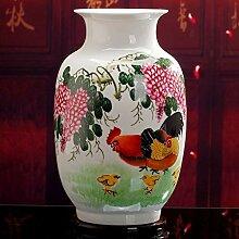 LISA Chinesische Vase, Vintage Keramik Vasen,