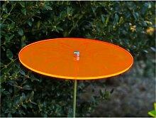 LISA DEKO Gartenstecker Sonnenscheibe orange mit