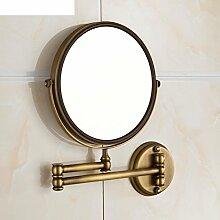 LISABOBO Alle Kosmetikspiegel Kupfer/Bronze mirror/seitig Spiegel/Badezimmer Spiegel Teleskop rotierenden Spiegel-A