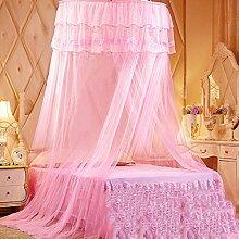 LISABOBO Kuppeldach spitze Moskitonetz Himmelbett, Halterung rundes Bett auf dem Boden stehende Saugnapf Moskito Vorhang auf - ein Zwilling 2