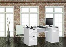 lisel-de Computertisch Schreibtisch Maja in Weiß