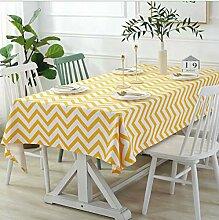 LISHIBUYI Leinen Tischdecke Läufer Einfacher Stil