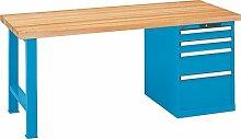 LISTA Werkbank, 1 Fuß, 1 Schubladenblock, 4
