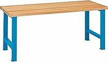 LISTA Werkbank, 2 Füße, Multiplexplatte 40 mm