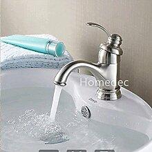 LIsui heißen und kalten Becken Tap_Neue direkte heiße und kalte Becken europäischen Einloch einzigen Griff Keramik Waschbecken tippen, Rose Gold